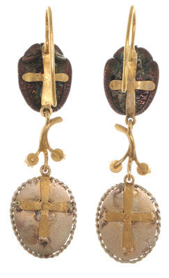 Victorian Scarab Earrings