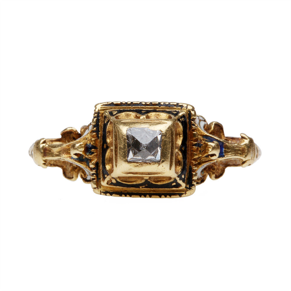 17th Century Point Cut Diamond Ring