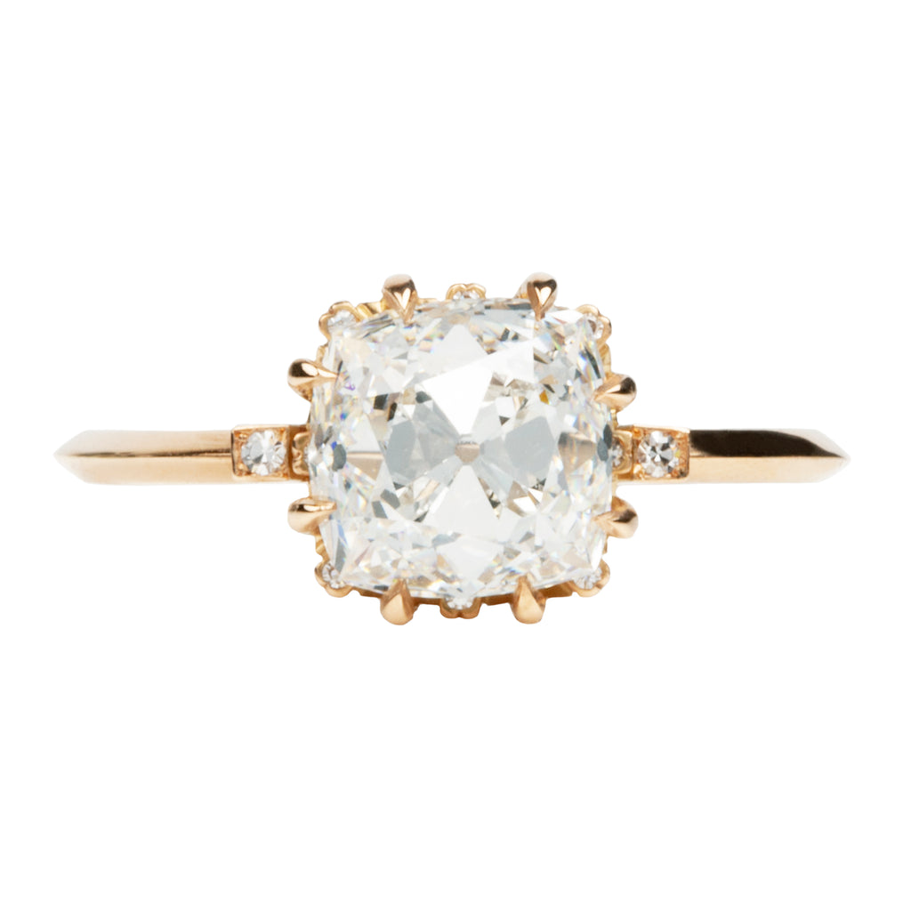 Signature Old Mine Cut Diamond Solitaire Ring
