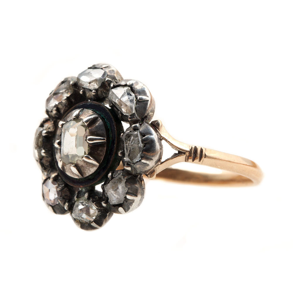 Early 19th Century Table Cut Diamond Cluster Ring