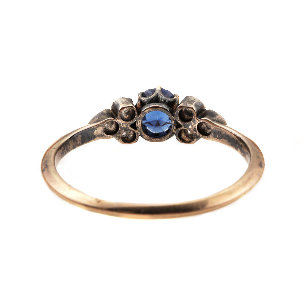 19th Century Sapphire & Rose Cut Diamond Ring