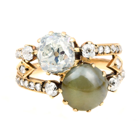 ring rings yellow pin chrysoberyl