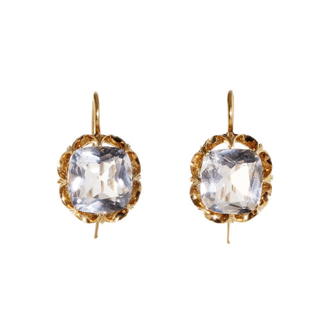 Late Victorian Era Rock Crystal Earrings