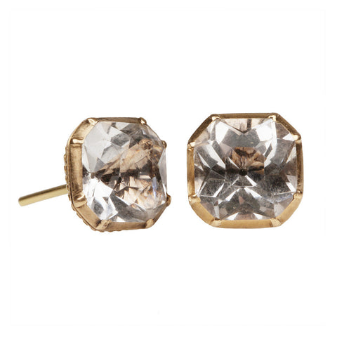 Georgian Gold Rock Crystal Earrings