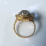 Georgian Gold Rock Crystal Ring