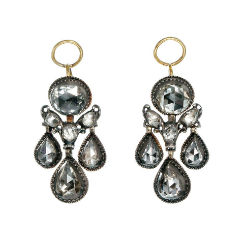 Dutch Rose Cut Diamond Earrings