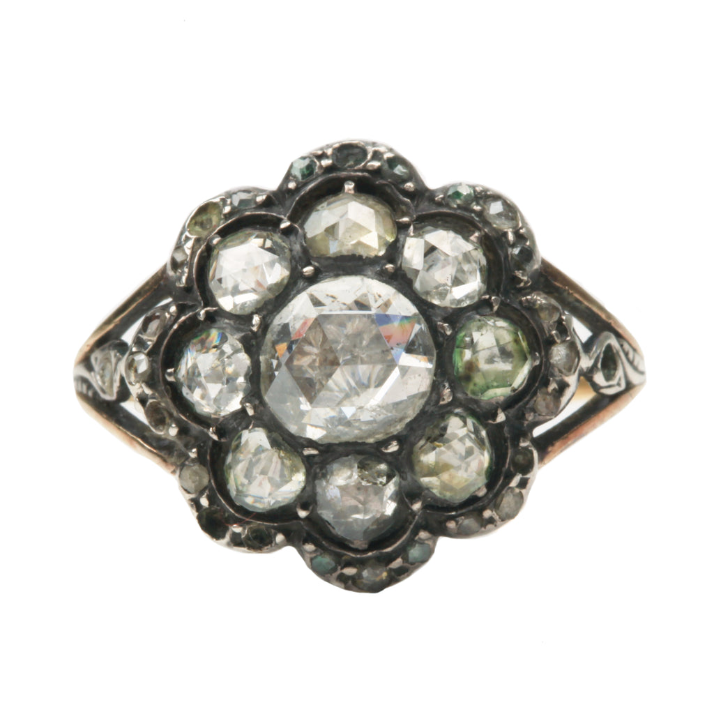 Late 19th Century Diamond Cluster Ring