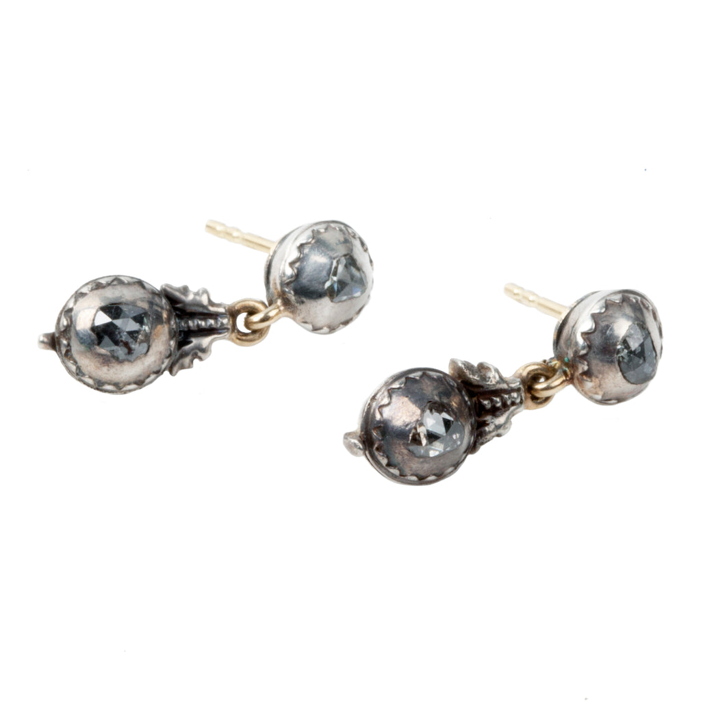 19th Century Rose Cut Diamond Earrings