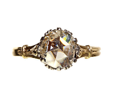 Late Victorian Ring with Early Rose Cut Diamond
