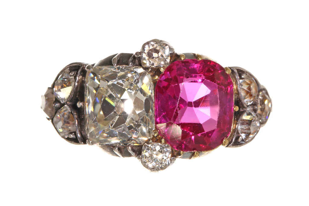Mid 19th Century Ruby and Diamond Ring