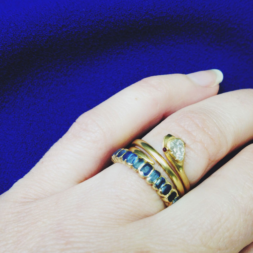Early Georgian Sapphire and Gold Eternity Band