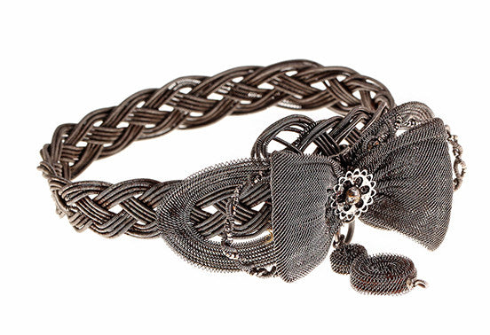 Silesian Iron Wire Work Bow Bracelet