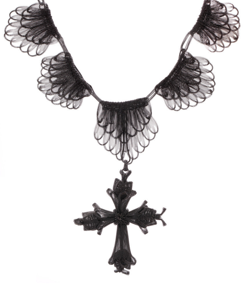 Rare Prussian / Silesian Iron Necklace