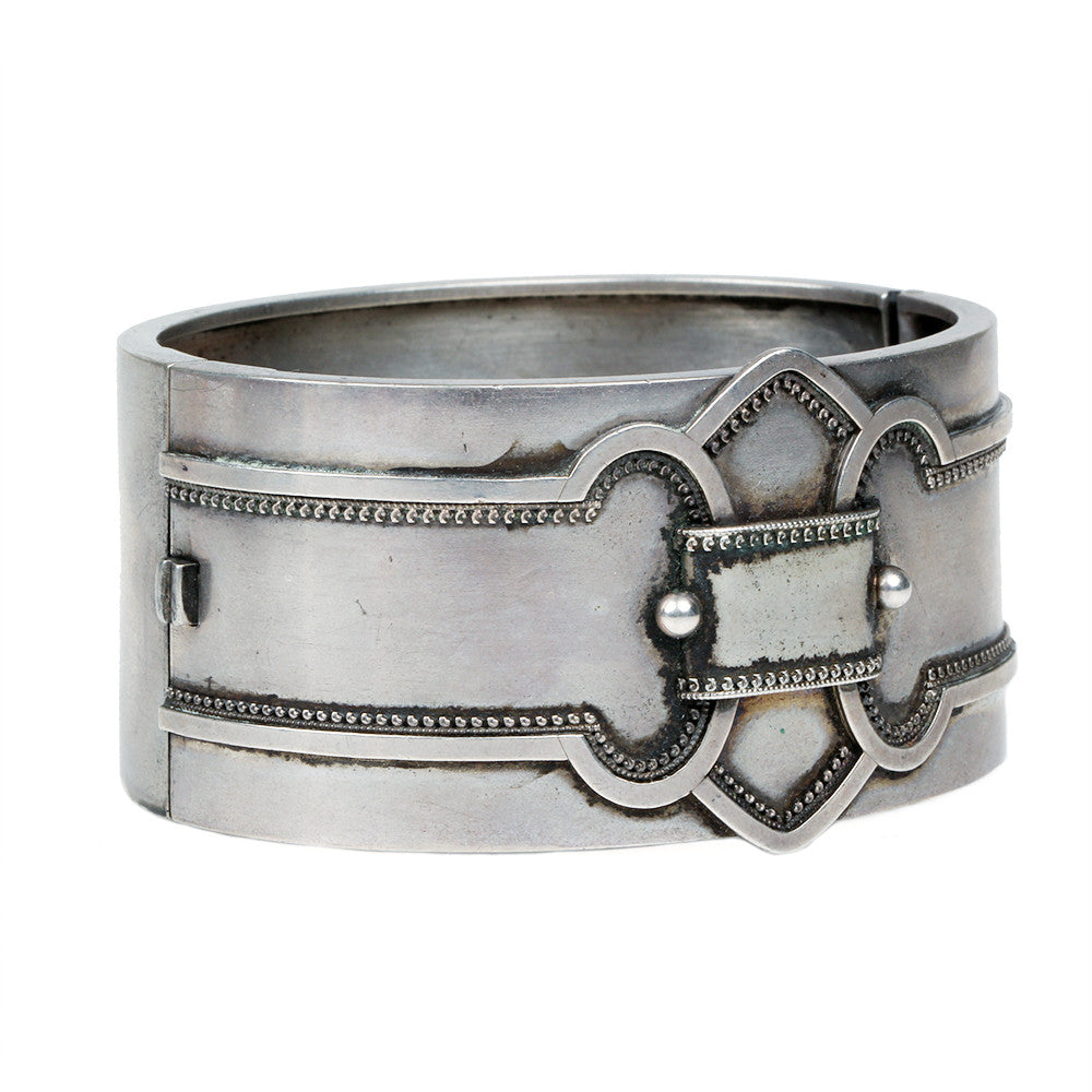 Victorian English Sterling Bangle