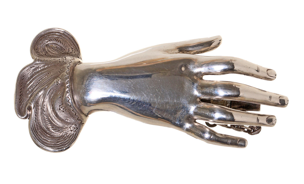 Sterling Silver Hand Brooch Circa 1848 for Friendship