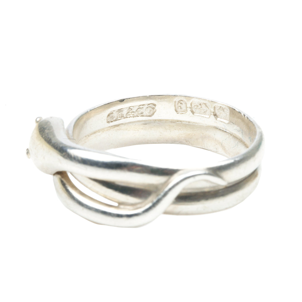 Victorian Silver Snake Ring