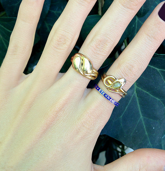 Victorian Cats Eye Chrysoberyl Snake Ring