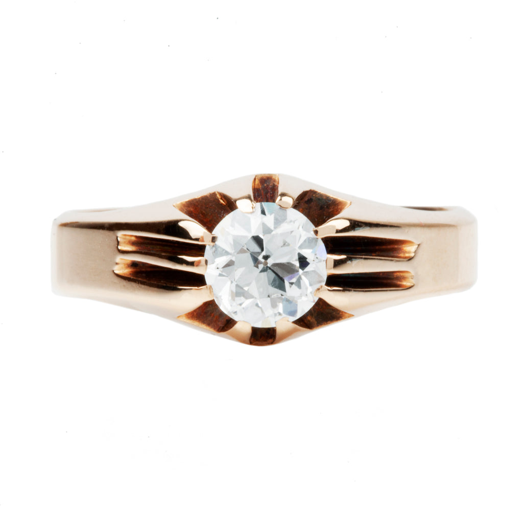 Turn of the Century Old European Cut Diamond Solitaire Ring
