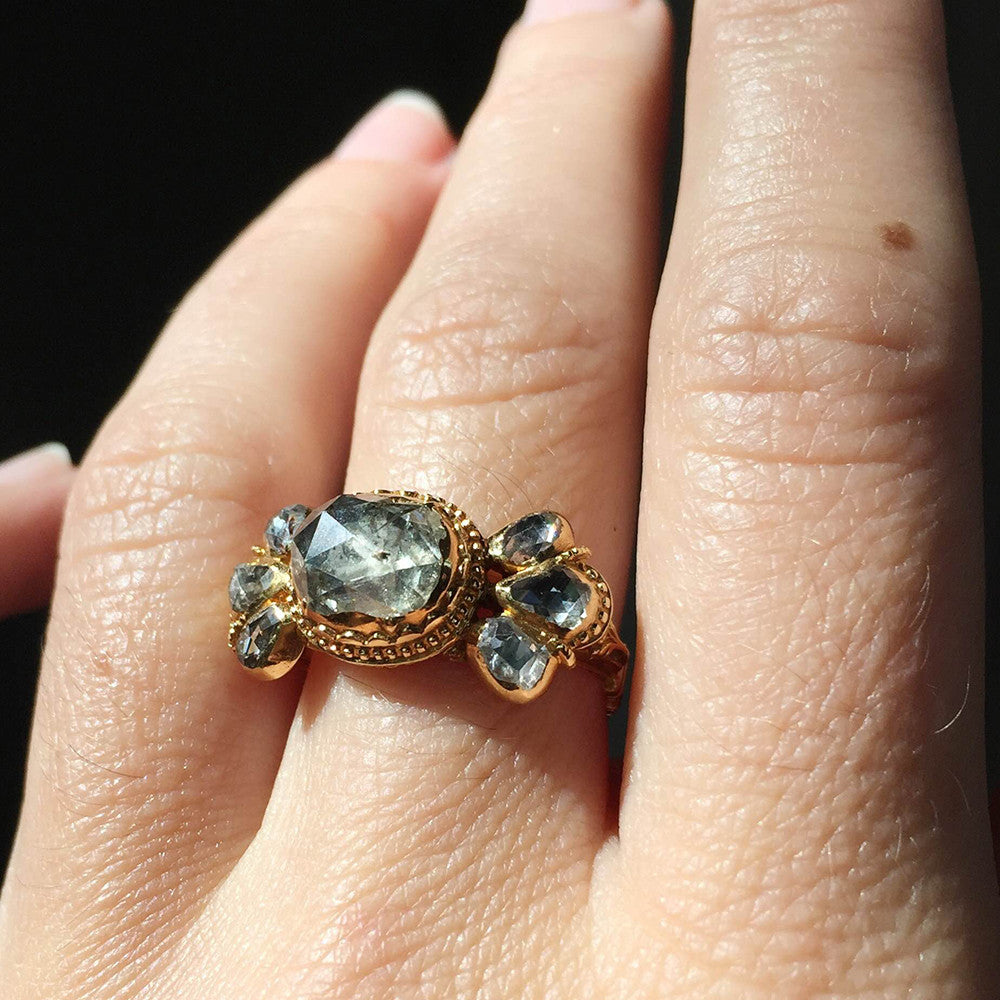 Rare Early 19th Century Rose Cut Diamond Ring
