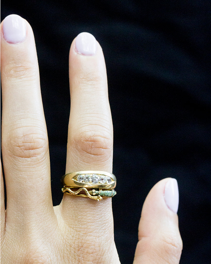 Georgian Snake and Lizard Ring