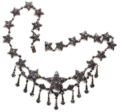 19th Century Cut Steel Star Necklace