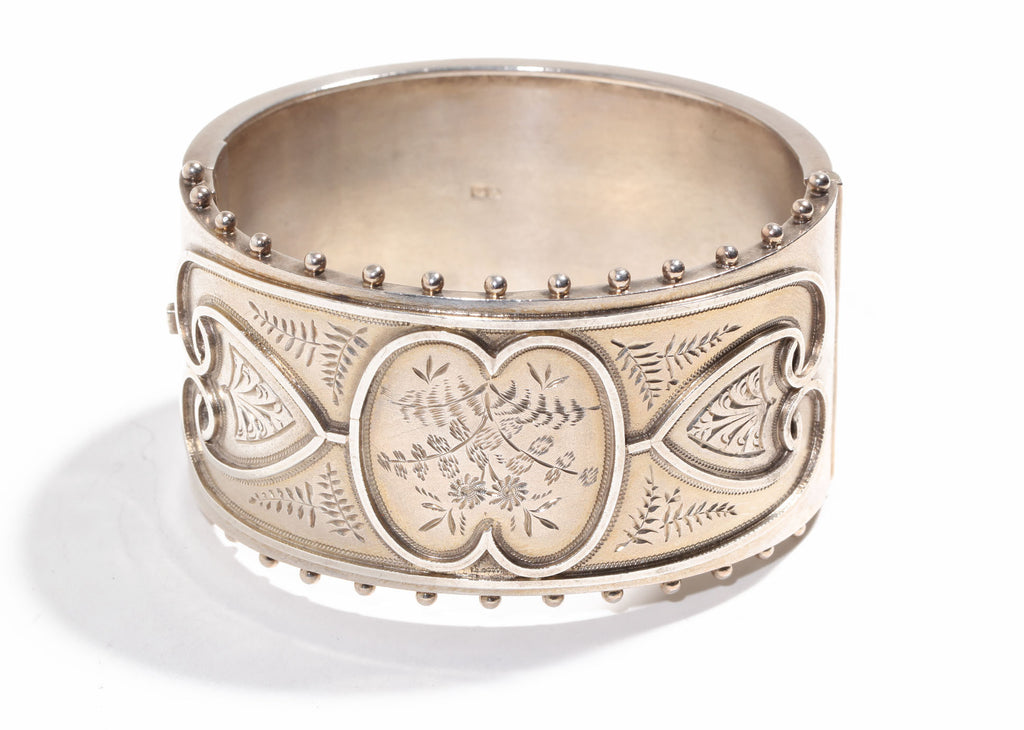 Sterling Daisy Bangle Circa 1880