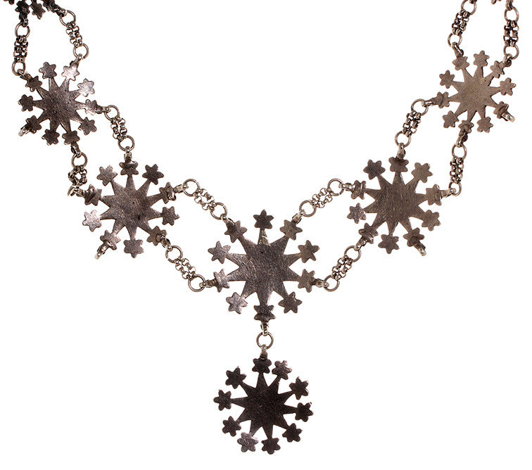 Victorian Sterling Silver 'Cut Steel' Necklace