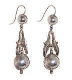 Victorian Silver Metal Earrings