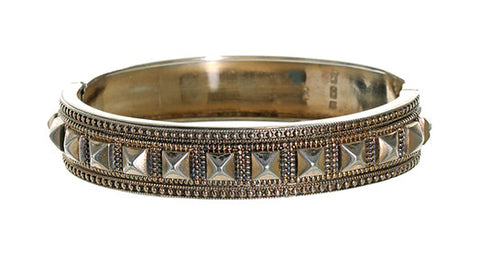 English Sterling Studded Bangle