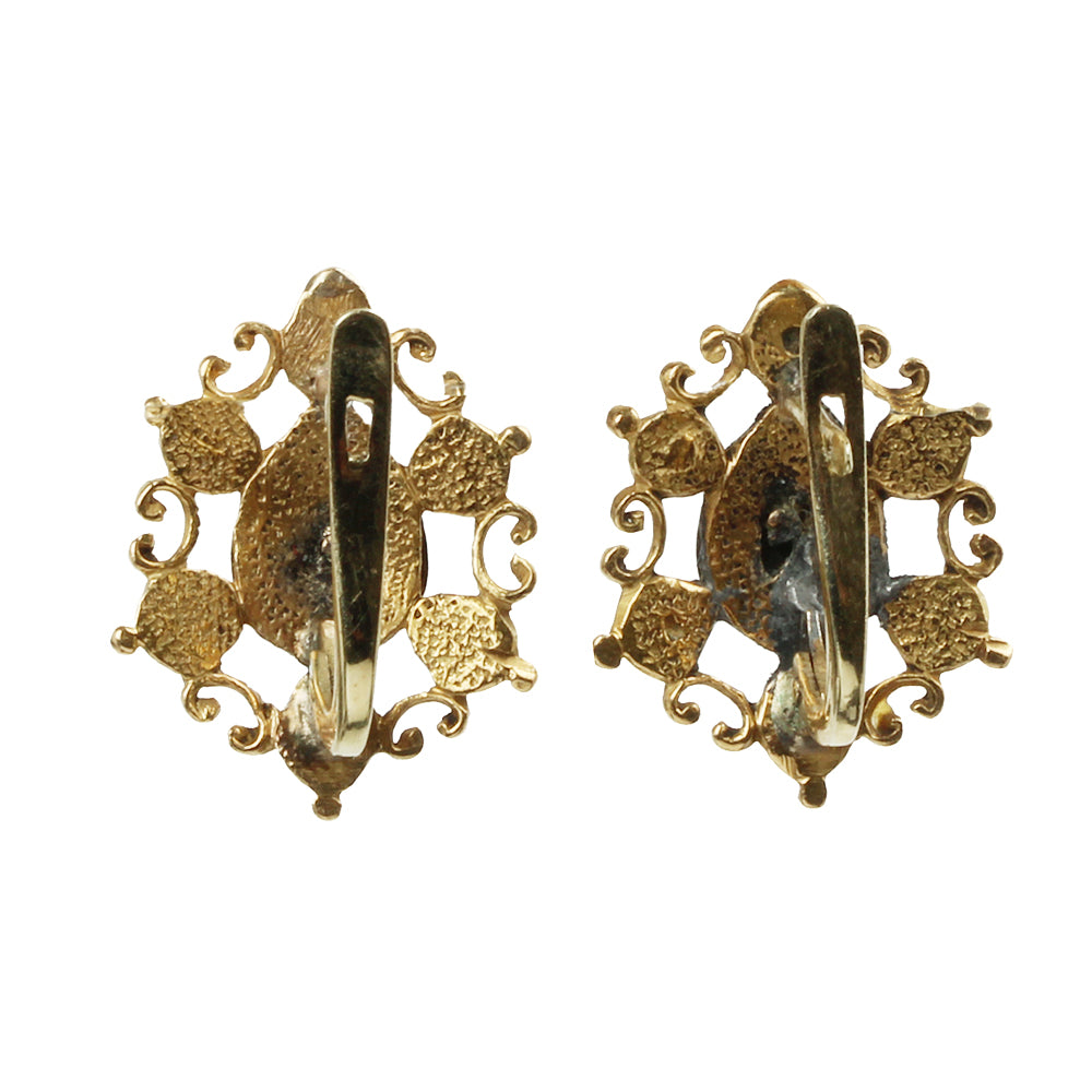 18th Century Table Cut Diamond Earrings
