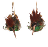 Victorian Taxidermy Hummingbird Earrings