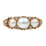 19th Century Pearl and Diamond Ring