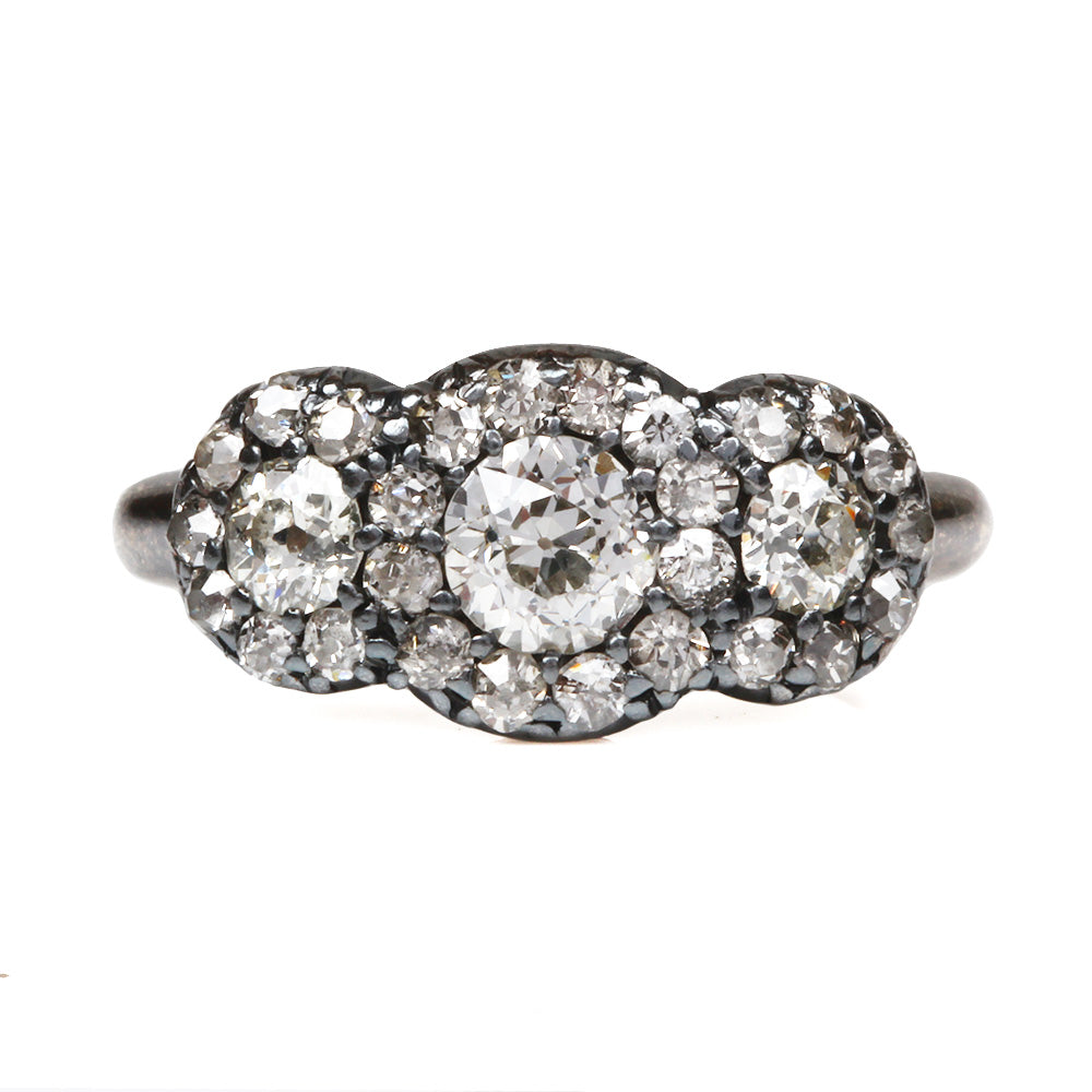 19th Century Cluster Diamond Ring