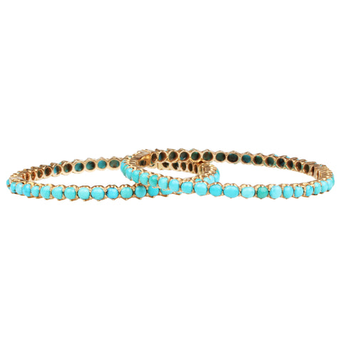 Victorian Turquoise Matched Set Bangles
