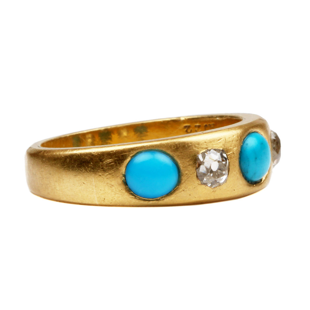 Victorian Turquoise and Diamond Ring
