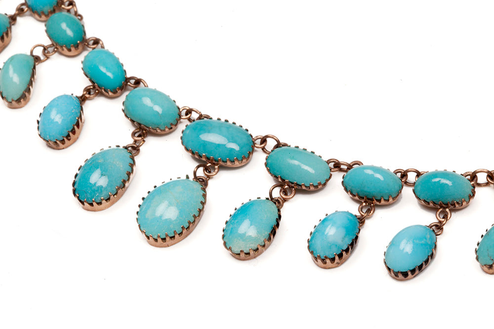 Late Victorian Persian Turquoise Necklace