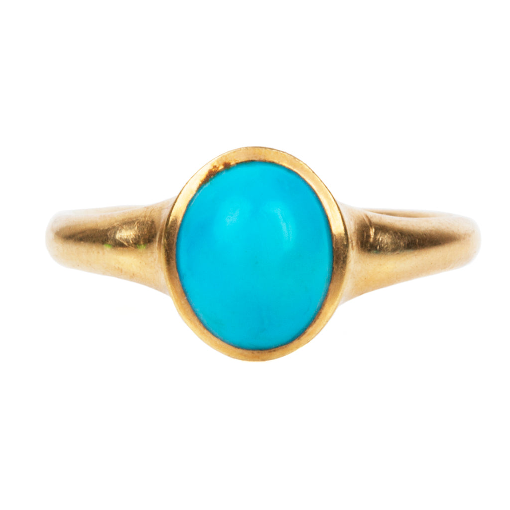 Victorian Turquoise Solitaire Ring