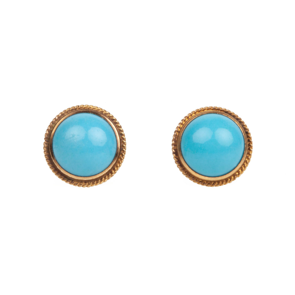 Early 20th Century Persian Turquoise Earrings