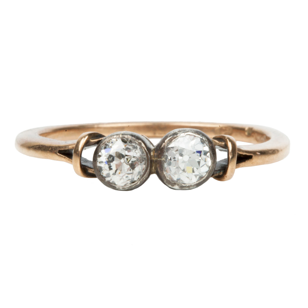 Early 20th Century Two Stone Diamond Moi et Toi Ring