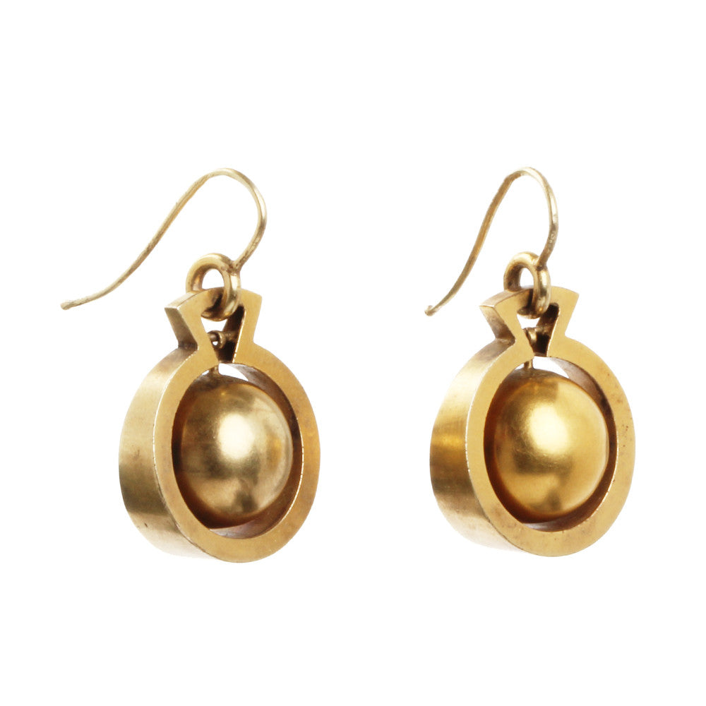 Victorian Gold Ball Earrings