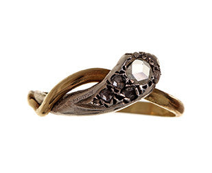 Victorian Diamond Snake Ring
