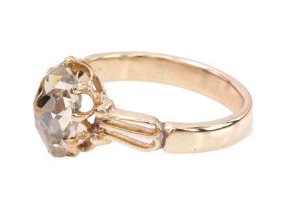 Victorian Rose Cut Diamond Ring
