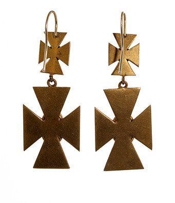 Victorian Maltese Cross Earrings