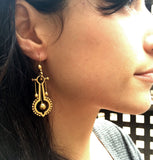 Victorian Long Gold Earrings