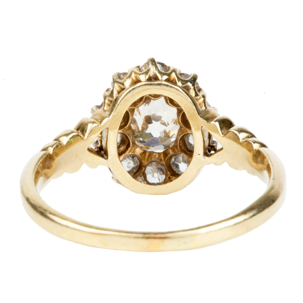 Late Victorian Diamond Cluster Ring