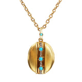 Victorian Persian Turquoise and Diamond Locket