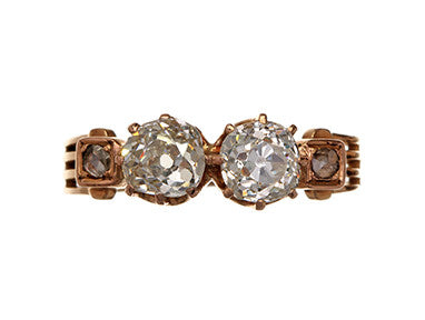 Victorian Twin Mine Cut Diamond Ring