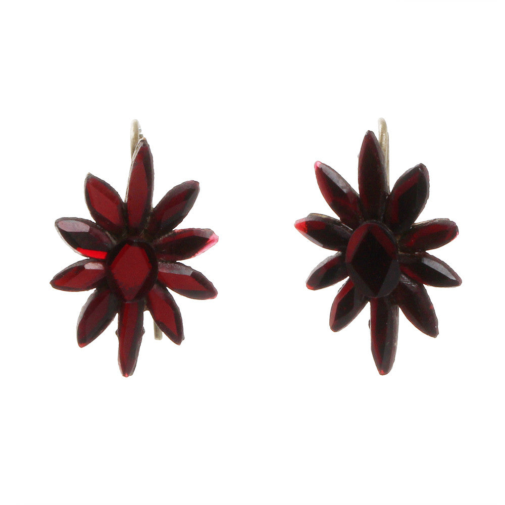 Victorian Era Red Vauxhall Earrings