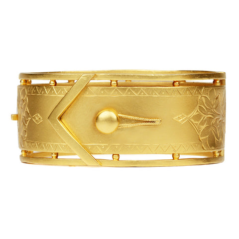 Victorian Gilded Buckle Bangle