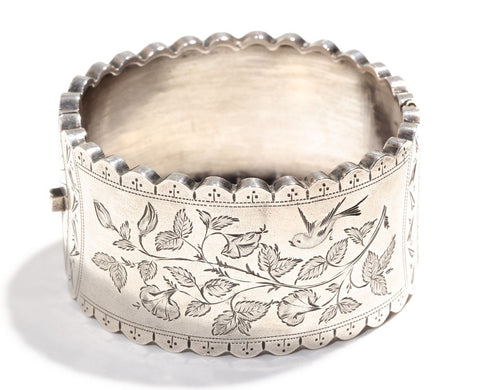 English Sterling Bangle Circa 1880s